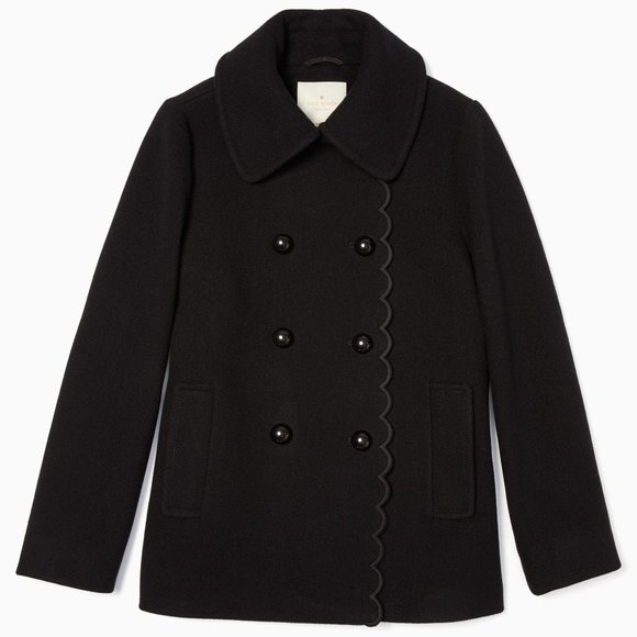 ❤ Kate Spade New York out west scallop peacoat